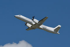 Eastern Airways Saab 2000 climbs in the sky (No. 1) Stock Photo