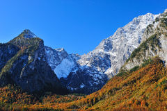Eastern Alps from National Park Bechtesgaden Royalty Free Stock Photography