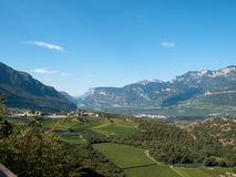 Eastern Alps. Valley of Adige river in Italy stock photography