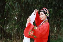 Aisa Chinese woman Peking Beijing Opera Costumes Pavilion garden China traditional role drama play dress dance perform ancient. Eastern Asian oriental royalty free stock photography