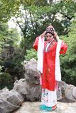 Aisa Chinese actress Peking Beijing Opera Costumes Pavilion garden China traditional role drama play dress dance perform ancient. Eastern Asian oriental stock image