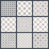 Eastern backgrounds seamless patterns Stock Images