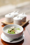Eastern breakfast soft boiled rice Stock Photography