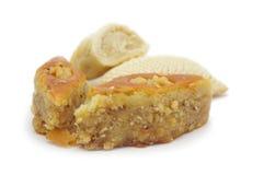 Eastern cakes shekerbura and baklava stock photo
