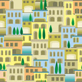 Eastern city seamless pattern Royalty Free Stock Photos