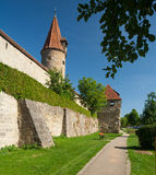 Eastern city wall in Rothenburg ob der Tauber Stock Photos
