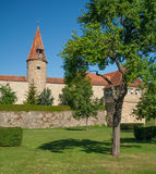 Eastern city wall in Rothenburg ob der Tauber Royalty Free Stock Images