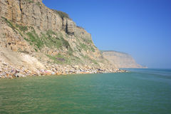 Eastern cliffs at Hastings Stock Photography