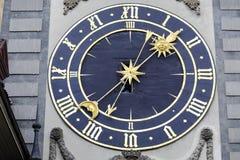 The eastern clockface of Zytglogge Royalty Free Stock Photo