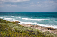 Eastern coast of the Isla Contoy in Mexico Stock Photo