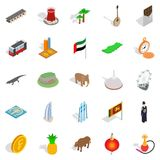 Eastern country icons set, isometric style. Eastern country icons set. Isometric set of 25 eastern country vector icons for web isolated on white background Stock Photo