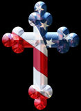 Eastern cross with USA flag Royalty Free Stock Photography