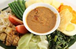 Eastern cuisine. Peanut sauce for Eastern cuisine named gado-gado from indonesia Stock Photography