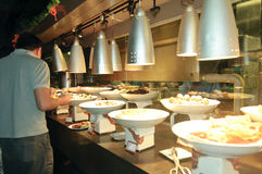 The Eastern Cuisine Buffet Restaurant Stock Photo
