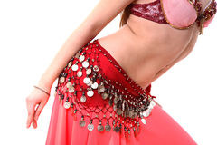 Eastern dance. A girl in a fancy eastern costume Royalty Free Stock Photo