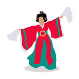 Eastern Dancer Isolated. Folk Dance Concept. Vector Royalty Free Stock Photo