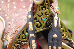 Eastern decorative saddle Royalty Free Stock Photography