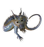 Eastern Dragon. 3d render of a Chinese dragon, against a white background Stock Images