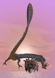 Eastern dragon - 3D render Stock Images