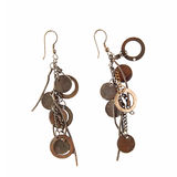 Eastern earrings with fine ornament Royalty Free Stock Images