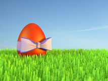 Easter egg and ribbon Royalty Free Stock Image