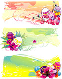 Eastern eggs. Background eastern colors eggs illustration Royalty Free Stock Images