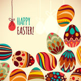Eastern eggs. Vector illustration. Vector  pattern with colorful eggs Stock Photos