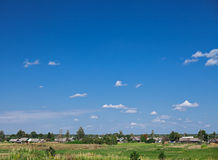 Eastern europe countryside rural landscape Royalty Free Stock Image