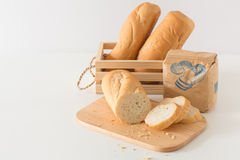 Eastern Europe long loaf bread Stock Photos