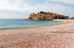 Eastern Europe montenegro stefan sveti Arkivbilder