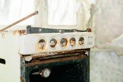 Eastern Europe Ukraina, Pripyat, Tjernobyl Övergav lägenheter Pripyat April 27, 2019 royaltyfri bild