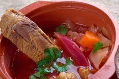 Eastern European beet soup Royalty Free Stock Photos