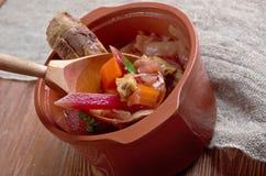 Eastern European beet soup Stock Photo