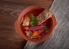 Eastern European beet soup Royalty Free Stock Photo