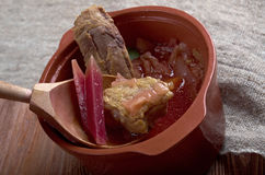 Eastern European beet soup Royalty Free Stock Photography