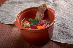 Eastern European beet soup Stock Images