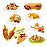 Eastern european cuisine pastry desserts icon Royalty Free Stock Image