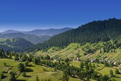 Eastern european mountain scenery. In summer Royalty Free Stock Image
