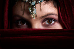 Eastern eyes Royalty Free Stock Photography