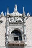 Fragment of eastern facade of Doge Palace, Venice - Italy Stock Photos