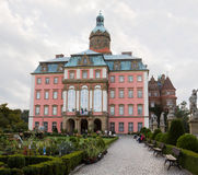 The eastern facade of Ksiaz castle in Walbrzych city, Poland. The castle was built in 1288-1292. It is today one of the city's main tourist sights stock images