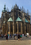 Eastern facade of St Vitus Cathedral in Prague. Stock Photography