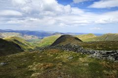 The Eastern Fells from Thronthwaite Crag Royalty Free Stock Photography