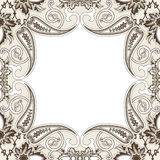 Eastern filigree ornament background. Ornate element for design. Place for text. Ornamental pattern for wedding invitations, greeting cards. Traditional Stock Image