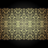Eastern filigree ornament background. Ornate element for design. Place for text. Ornamental pattern for wedding invitations, greeting cards. Traditional Royalty Free Stock Photo