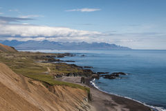 Eastern fjords. A view on Icelands eastern fjords royalty free stock photography