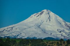 Eastern flank of Mount Hood in Oregon. Eastern side of snow covered Mount Hood in Oregon Royalty Free Stock Photography