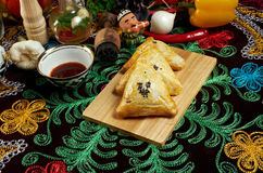 Eastern food samsa Royalty Free Stock Photos