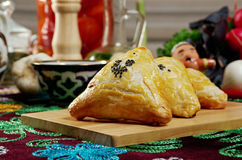 Eastern food samsa Stock Photos