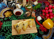 Eastern food samsa Stock Image
